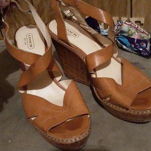 Coach strappy sandals